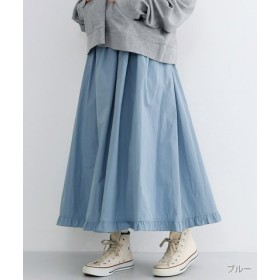 (merlot/メルロー)フリルヘムギャザースカート/レディース ブルー
