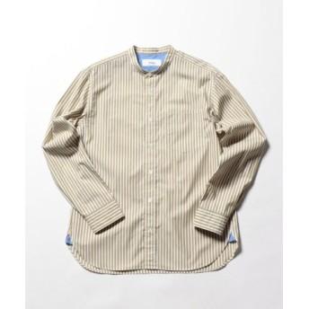 (NOLLEY'S/ノーリーズ)バンドカラーシャツ/メンズ ブラウンベージュ系3 送料無料