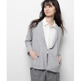 (smart pink/スマートピンク)【洗える】ツイルデザインジャケット/レディース ライトグレー(011)