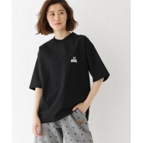 (BASE STATION/ベースステーション)【WEB限定】 BSCL バックロゴ ストレッチナイロン Tシャツ/レディース ブラック(119)