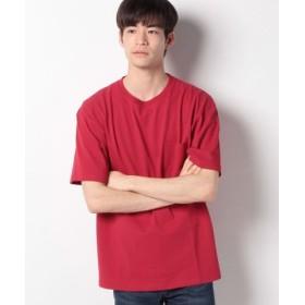 (WEGO/ウィゴー)WEGO/USAコットンクルーネックポケットTシャツ/ユニセックス レッド