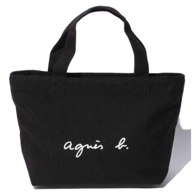 (agnes b. Voyage/アニエスベー ボヤージュ)GO03-02 ロゴトートバッグ/レディース ブラック 送料無料