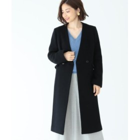 (BEAMS OUTLET/ビームス アウトレット)Demi-Luxe BEAMS/ノーカラー Vネックコート/レディース BLACK