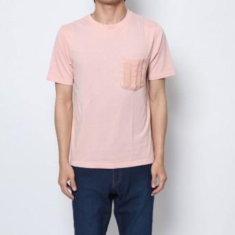 セブンデイズ サンデイ SEVENDAYS=SUNDAY outlet ニットポケット付 半袖プルオーバー (ピンク)
