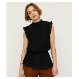 (SLY/スライ)LACE STAND TOPS/レディース BLK