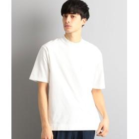 (green label relaxing/グリーンレーベルリラクシング)CM クレープ ワイドカラー 半袖 Tシャツ/メンズ WHITE