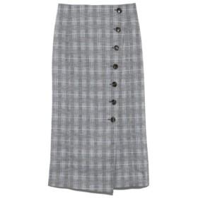 (Mila Owen/ミラオーウェン)セットアップボタンデザインタイトスカート/レディース CHECK 送料無料