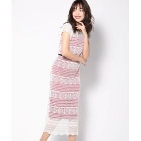 (VICKY/ビッキー)柄編みペチコート付シアーワンピース/レディース ホワイト 送料無料