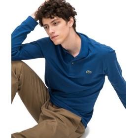 (LACOSTE/ラコステ)鹿の子スリムフィットポロシャツ (長袖)/メンズ ブルー 送料無料