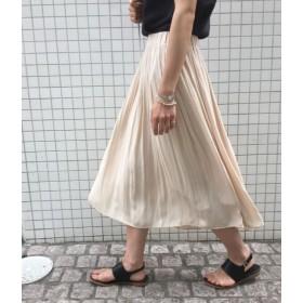 ROPE' mademoiselle ヴィンテージサテンギャザーフレアスカート