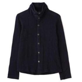 (TORNADO MART/トルネードマート)衿ベルト付きスタンドカラーカーディガン/メンズ ネイビー 送料無料