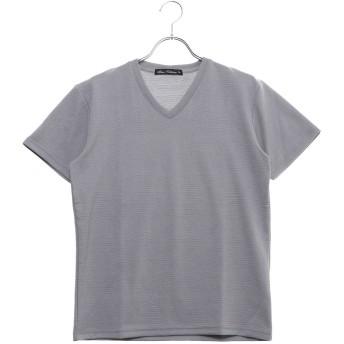 スタイルブロック STYLEBLOCK フクレジャガードVネックTシャツ (グレー)