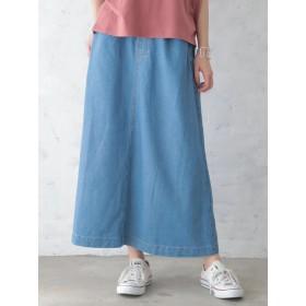 【6,000円(税込)以上のお買物で全国送料無料。】接触冷感デニムマキシスカート