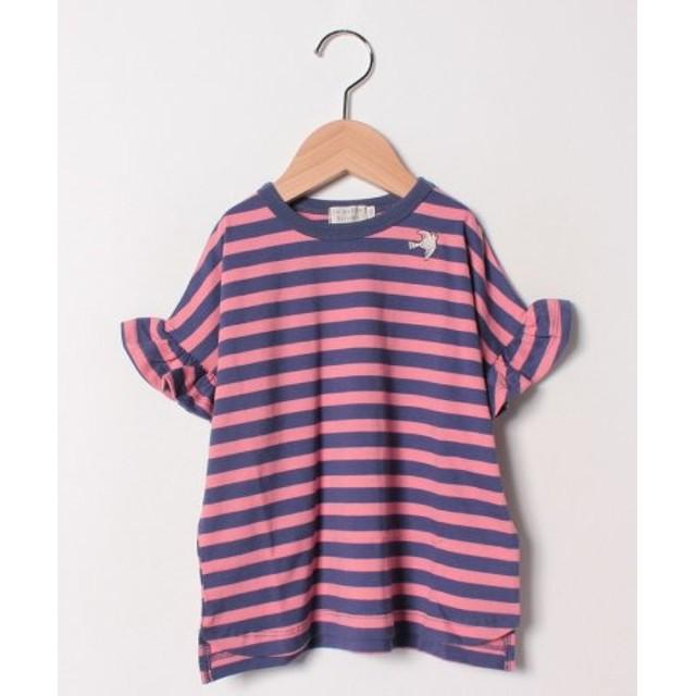 (la poche biscuit/ラ・ポシェ・ビスキュイ)半袖Tシャツ/レディース ネイビー