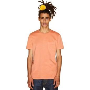 (BENETTON (UNITED COLORS OF BENETTON)/ベネトン(ユナイテッド カラーズ オブ ベネトン))製品染めポケットTシャツ・カットソー/メンズ オレンジ