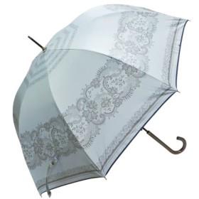 (macocca/マコッカ)遮光率100% 遮蔽率100% 超撥水 晴雨兼用ジャンプ傘レース柄/レディース グレー