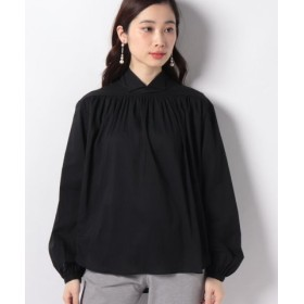 (MARcourt/マーコート)【mizuiro ind】stand collar shirt/レディース BLACK 送料無料
