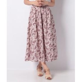 (Te chichi/テチチ)Lugnoncure コットンプリントギャザースカート/レディース ピンク