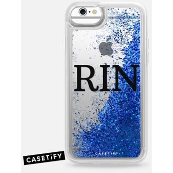 CASETiFY iPhone 6s ケース 名前入りキラキラ ケース イニシャルグリッターケース ケース 名前 ケース 名前 入り