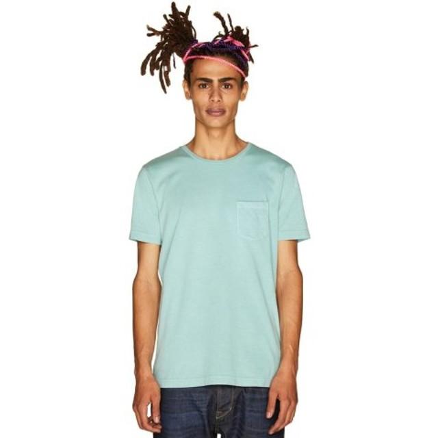 (BENETTON (UNITED COLORS OF BENETTON)/ベネトン(ユナイテッド カラーズ オブ ベネトン))製品染めポケットTシャツ・カットソー/メンズ ブルー