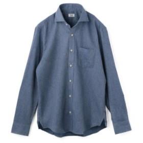 (Men's Bigi/メンズビギ)ソフト起毛シャツ/コットンツイル/メンズ ブルー