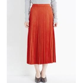 (haco!/ハコ)楽して女っぽい フェイクスエードのプリーツスカート by que made me/レディース オレンジ系その他 送料無料