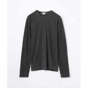 (TOMORROWLAND/トゥモローランド)クルーネック長袖Tシャツ MLJ3351/メンズ チャコールグレー 送料無料