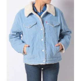 (LEVI'S OUTLET/リーバイス アウトレット)PEAKY SHERPA COR TRUCKER BABY BLUE CORD/レディース ブルー