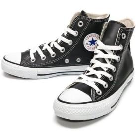 (FOOT PLACE/フットプレイス)コンバース レザーオールスター ハイ CONVERSE LEATHER ALL STAR HI/ユニセックス ブラック