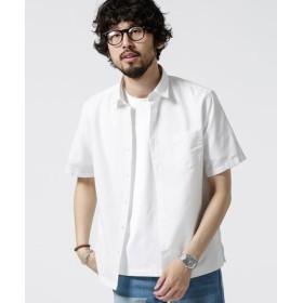 (nano・universe/ナノ・ユニバース)【WEB限定】フレンチリネンミニレギュラーシャツ 半袖/メンズ ホワイト
