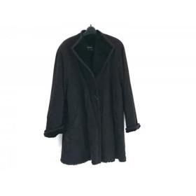 【中古】 ビッキー VICKY コート サイズ9 M レディース 黒 冬物/フェイクムートン