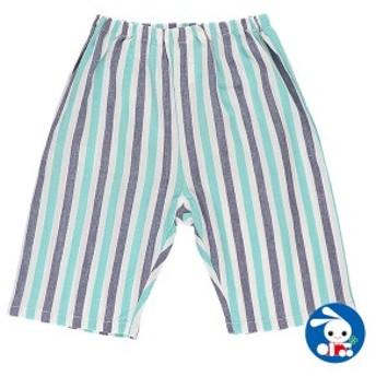 ステテコ(先染めストライプ)【80cm・90cm・95cm】[ ステテコ すててこ 半ズボン ハーフパンツ 部屋着 ルームパンツ パジャマ キッズ 子