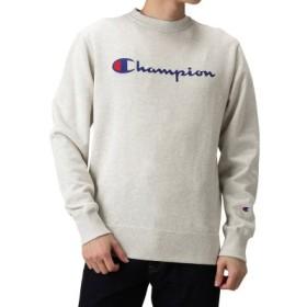 (MAC HOUSE/マックハウス)Champion クルーネックトレーナー C3-H004/メンズ オートミール