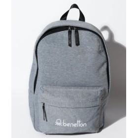 (BENETTON (UNITED COLORS OF BENETTON)/ベネトン(ユナイテッド カラーズ オブ ベネトン))ロゴ入りスウェットリュック・バックパック/レディース ライトグレー