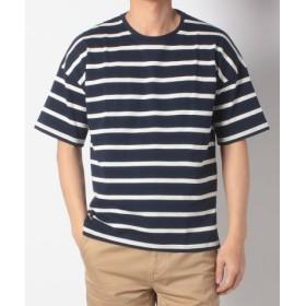 (URBAN RESEARCH OUTLET/アーバンリサーチ アウトレット)【ROSSO】ボーダーバスクTシャツ/メンズ ネイビー×ホワイト