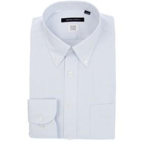 【THE SUIT COMPANY:トップス】【SUPER EASY CARE】ボタンダウンカラードレスシャツ 織柄 〔EC・BASIC〕