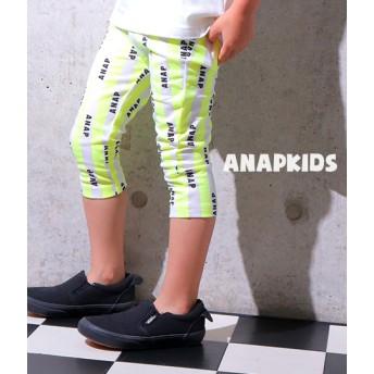 【セール開催中】ANAP KIDS(キッズ)ストライプ×ロゴ柄レギンス