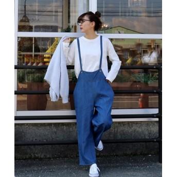 (MARLENE JOBERT/マルレーヌジョベル)【人気のデニム-大人サロペット2019SS-】/レディース ブルー