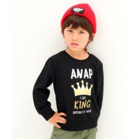 (ANAP KIDS/アナップキッズ)KINGプリントトレーナー/レディース BK
