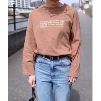 (reca/レカ)プリントロゴTシャツ/レディース ピンク