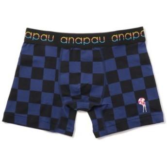 (BEAVER/ビーバー)ANAPAU/アナパウ チェッカーフラッグ/ボクサーパンツ/メンズ BLUE