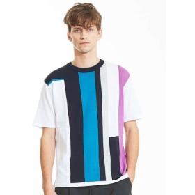 (ABAHOUSE/アバハウス)インターシャニットTシャツ/メンズ ラベンダー