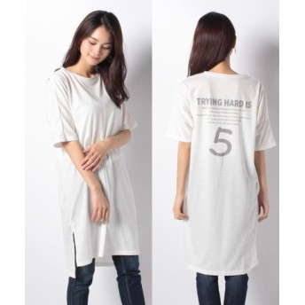 (Ranan/ラナン)プリントロングTシャツ/レディース ホワイトバックナンバー