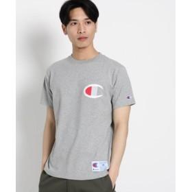 (Dessin/デッサン)Champion(R) ビッグ刺しゅうTシャツ/メンズ グレー(012)