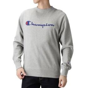 (MAC HOUSE/マックハウス)Champion クルーネックトレーナー C3-H004/メンズ グレー