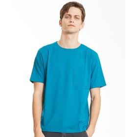 (ABAHOUSE/アバハウス)カラースキーム圧着Tシャツ/メンズ エメラルドG 送料無料