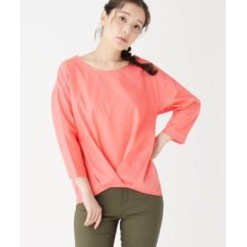 (pink adobe/ピンクアドベ)フロントタック異素材コンビシャツ/レディース ベビーピンク(071)