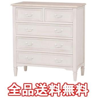 優しい雰囲気と高級感を感じられるアンティーク調の家具です。ブロカントシリーズ チェスト(ホワイト) MCH-7321WH【大型商品につき代引不可・時間…