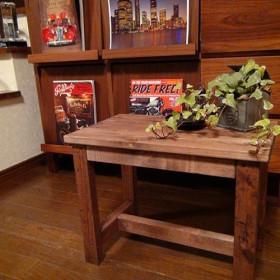【送料無料】 アンティーク テーブル風 ベンチ レトロ ハンドメイド 椅子 W45w