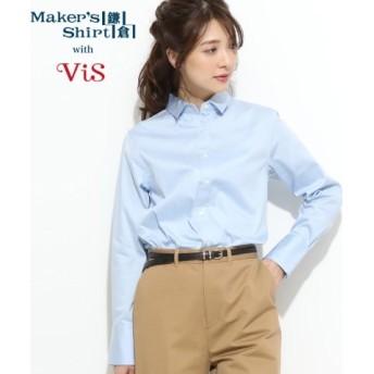 (ViS/ビス)【鎌倉シャツ×ViS】【2WAY】スタンダードシャツ/レディース サックス(48)